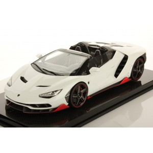 Lamborghini Centenario Roadster Bianco Pheme Shiny, Display Case by LookSmart (Scale 1/12)