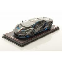 Lamborghini Centenario Shiny Carbon Fibre w/ Blu Nethuns  - One Off by MR Collections
