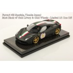 Ferrari 458, Speciale, Thank Japan, Matt Black w/Italy Livery, Carbon Base - One Off by MR Collections