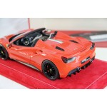 Ferrari 488 GTB Spyder Rosso Dino with Italian livery - One Off by MR Collections