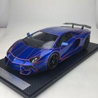 Lamborghini Aventador LP900 Chrome Blue  - Limited 20 pcs (Scale 1/12) by DMC