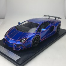 Lamborghini Aventador LP900 Chrome Blue  - Limited 20 pcs (Scale 1/12) by DMC