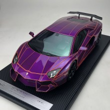 Lamborghini Aventador LP900 Chrome Purple  - Limited 20 pcs (Scale 1/12) by DMC