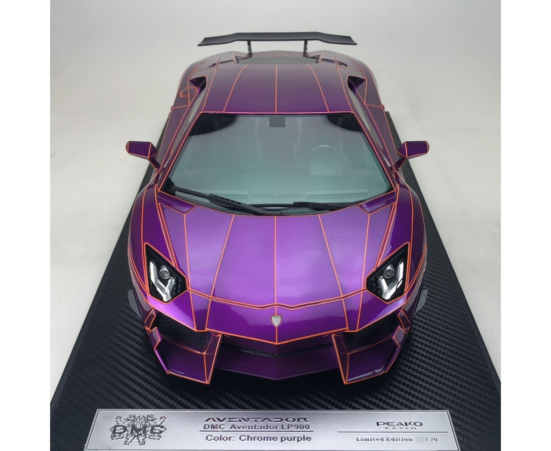 Lamborghini Aventador Lp900 Chrome Purple Limited 20 Pcs Scale 1