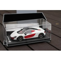 Mclaren P1 White - Limited 50 pcs with Display Case by Tecnomodel